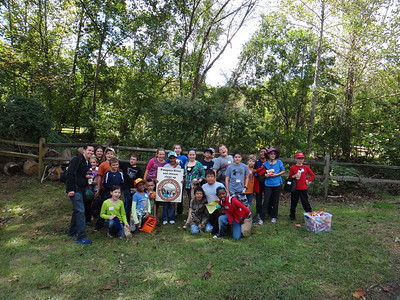 9.26.13 Cleanup, Watershed Scavenger Hunt & Creek Scene Investigation in Patapsco State Park with Atholton Elementary