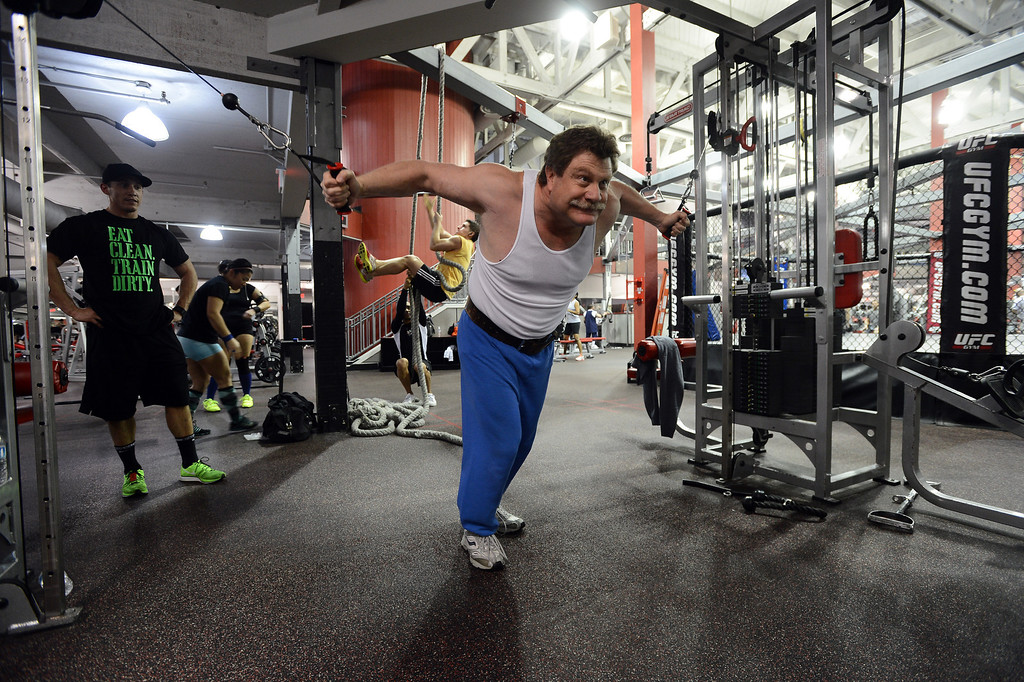 . Doug Tischler, of Walnut Creek, works out at the UFC gym in Concord, Calif. on Monday, Jan. 7, 2013. (Kristopher Skinner/Staff)