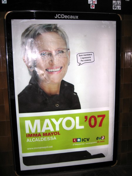 Poster for candidate for mayor of Barcelona