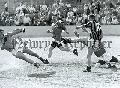 1996: Cathal Short scores the opening goal of the game. RS9636106