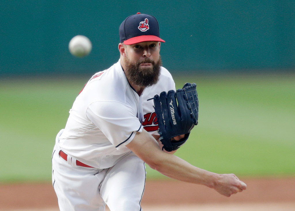 . Cleveland Indians starting pitcher Corey Kluber delivers in the first inning of a baseball game against the Minnesota Twins, Friday, June 15, 2018, in Cleveland. (AP Photo/Tony Dejak)