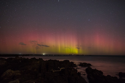 Aurora from Tarakena Bay