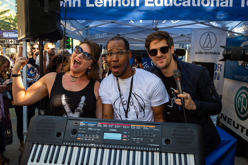 2019, Anaheim, CA, Giveaways, Lawrence Love Jr., Matthew Reich, NAMM, Tents, Yamaha