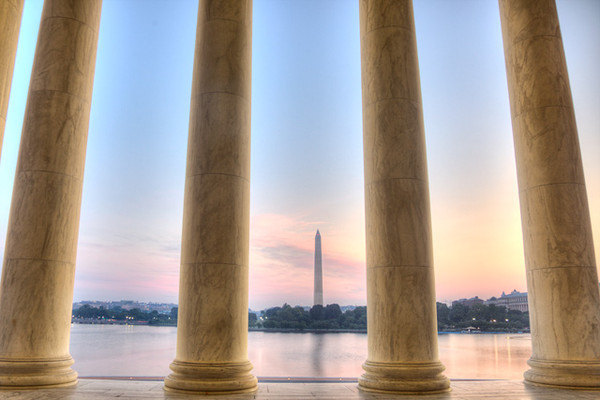 Jefferson Sunrise with View of the Monument