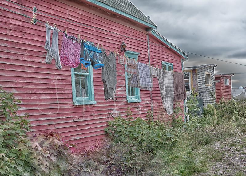 Clothes line, Petty Harbour, Newfoundland