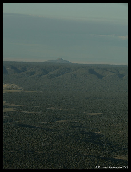 Aerial view of the Kaibab National forest at Grand Canyon,  Arizona, September 2009