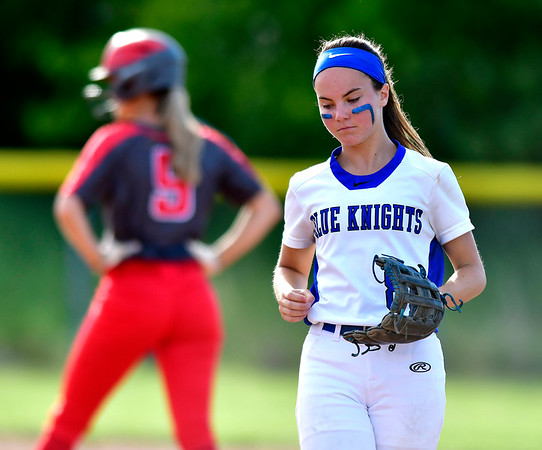 6/8/2019 Mike Orazzi | Staff Southington's Alexandra Rogers (8) during Saturday's Class LL Softball Final at DeLuca Field in Stratford.