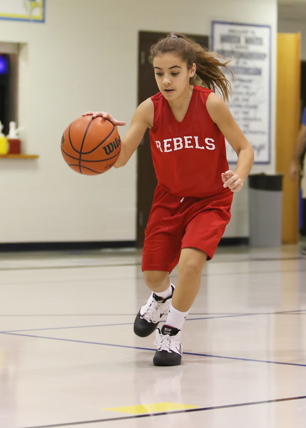 SNMS Girls Basketball 6th Grade vs North White 2015