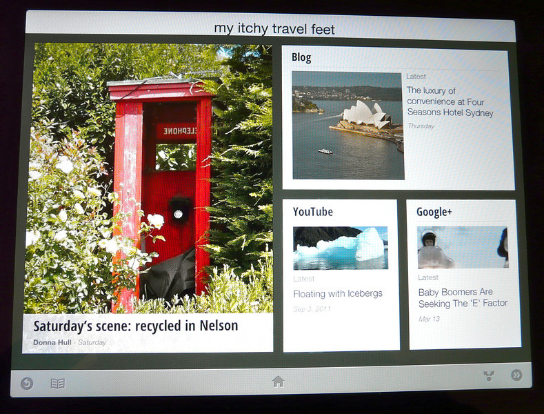 Read your favorite blogs on Google Currents