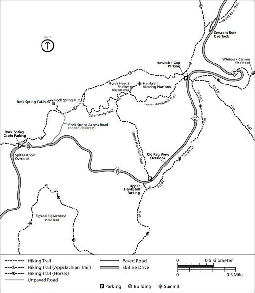 Shenandoah National Park (Trails - Hawksbill Area)