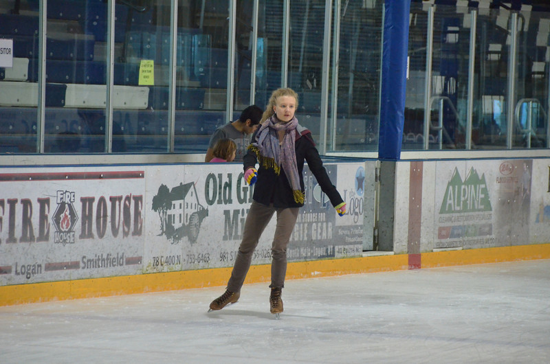 Ice skating at Eccles Ice arena, Cache Valley Utah. 11-23-12