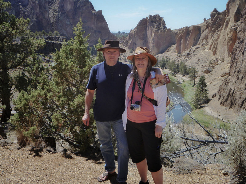 Barb and Roger at Smith Rock Park