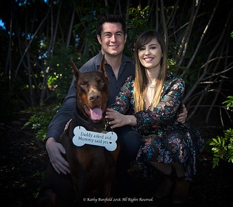 Engagement Photo Session with Pet