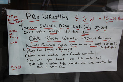 EGW, Elite Generation Wrestling Show, Salvation Army, Tamaqua (7-27-2013)