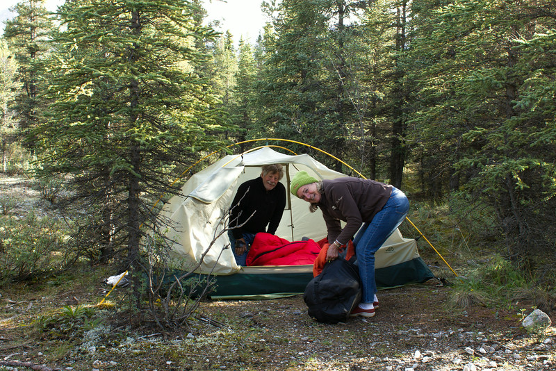 You are never too old to camp!
