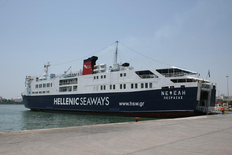 2011 - F/B NEFELI in Piraeus embarking to Aegina.
