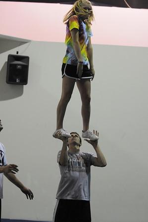 Torin Cheer Practice - Before school starts -2010