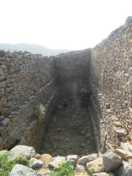 035_Axum. The Palace of Queen Sheba. 9th Century BC. Water Reservoir for Queen Private Shower.JPG