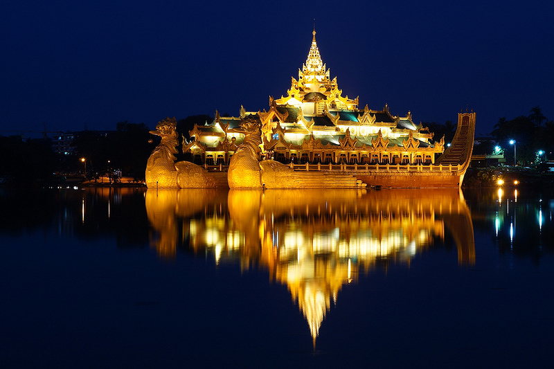 Kandawgyi Lake, Yangon, Myanmar - ကန်တော်ကြီး, ရန်ကုန်;, မြန်မာ