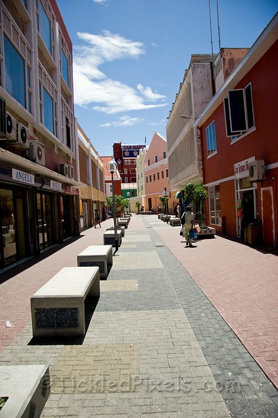 Street in Punda, Willemstad