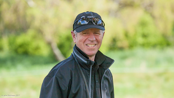 Local fan Mike Gould watching the action on the 12th hole on the 2nd day of competition  in the Asia-Pacific Amateur Championship tournament 2017 held at Royal Wellington Golf Club, in Heretaunga, Upper Hutt, New Zealand from 26 - 29 October 2017. Copyright John Mathews 2017.   www.megasportmedia.co.nz