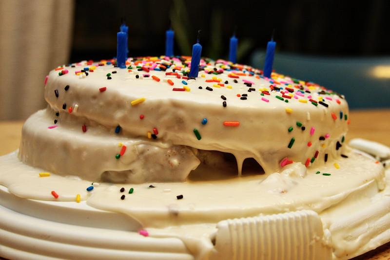 Happy 6th, Gabe. Maybe next birthday I'll be better at cake baking?