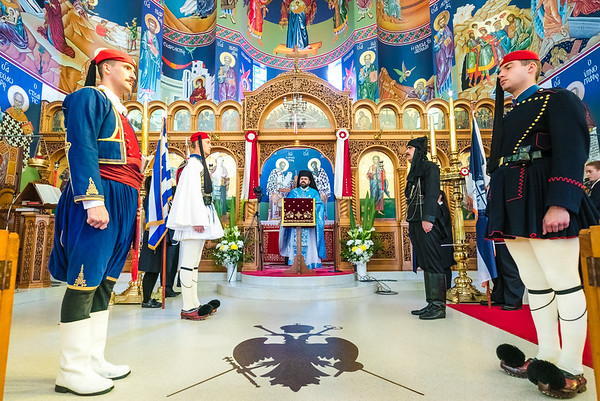 2017 Belmore Greek Church with Presidential Guards of Greece (Evzones) Sydney Australia