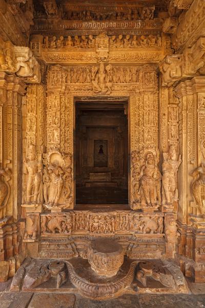 Inner view of Adinath temple, Khajuraho, India