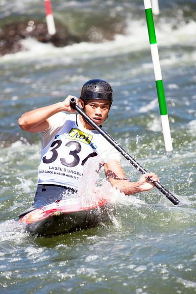 Fangjia CHEN (China), C1 - ICF Canoe Slalom World Championships 2009, La Seu d'Urgell (Spain)