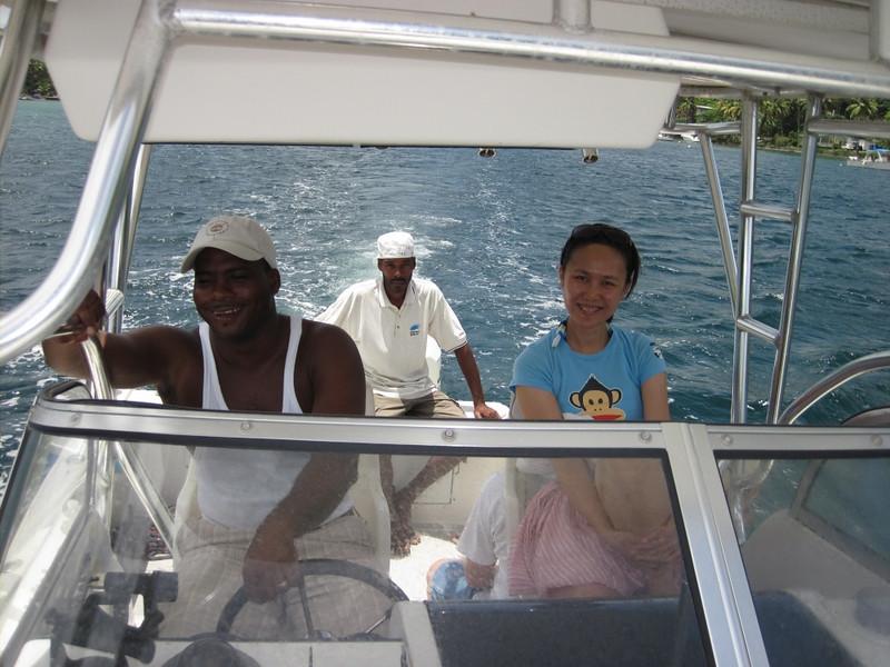 Leaving Marigot Bay.