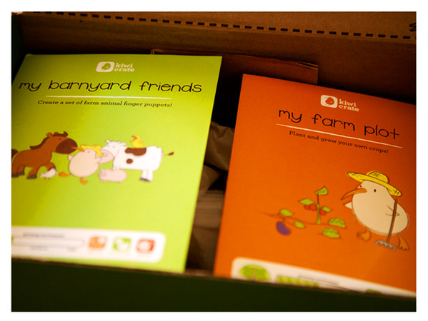 August 2014 Kiwi Crate: Farm Fun Activities Instruction Booklets