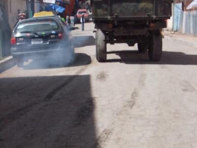 Copacabana military truck smog