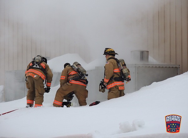Fire at Lakers Ice Center on January 8, 2016