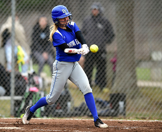 4/9/2019 Mike Orazzi   Staff Bristol Eastern's Zoe Lowe (8) during Tuesday's softball game in Bristol.