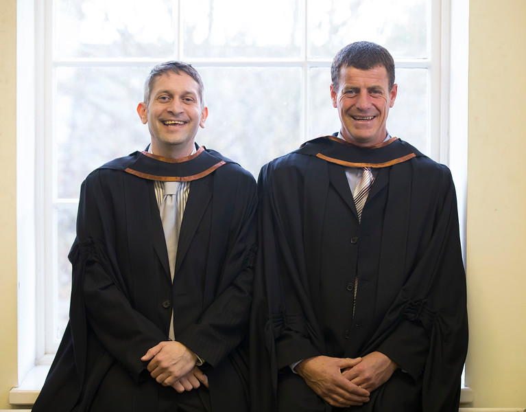 02/11/2016. Waterford Institute of Technology (WIT) Conferring Ceremonies November 2016. Pictured are John Bennett, New Ross Co. Wexford and Stuart Murphy, Tramore who graduated Bachelor of Engineering (Hons). Picture: Patrick Browne