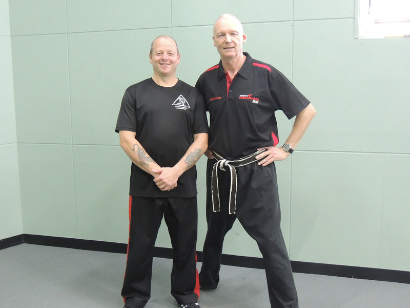 Grandmaster Angelo 8th Dan Founder Filipino Kyusho with Shihan Martin Day Combat Karate