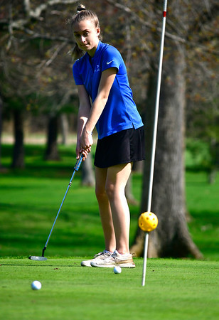 4/23/2019 Mike Orazzi | Staff St. Paul's Jilian Kiazim at the Westwoods Golf Course on Tuesday.
