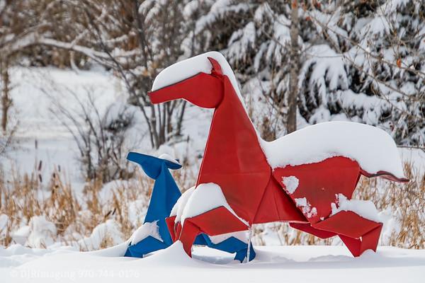 Cool Art (Loveland Sculptures Post-Snow Storm)