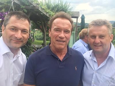 Treffen mit Arnold Schwarzenegger 06 2017