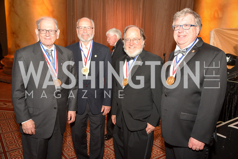Dr. Bob Kahn, Dr Adi Shamir, Dr. Ronald Rivest, Dr. Eric R. Fossum, National Inventors Hall of Fame, Induction at the National Building Museum, May 3, 2018-8971.JPG