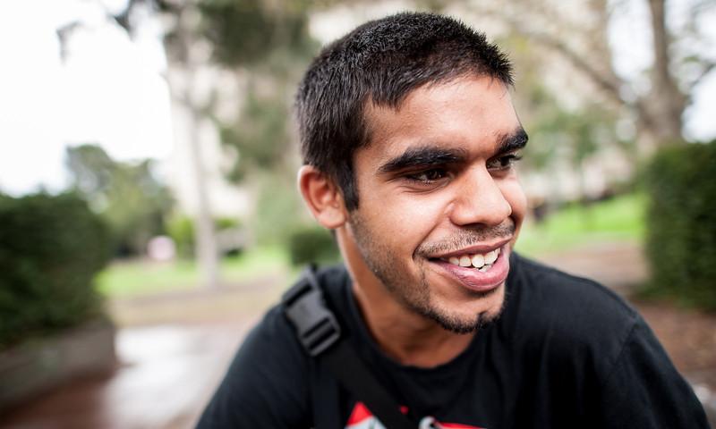 Twenty-year-old Aboriginal Man smiling