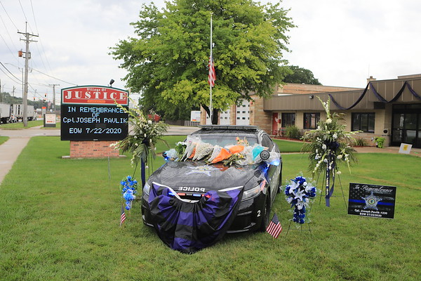Justice Police Department Funeral Service For CPL Joseph Pavlik EOW 07/22/2020