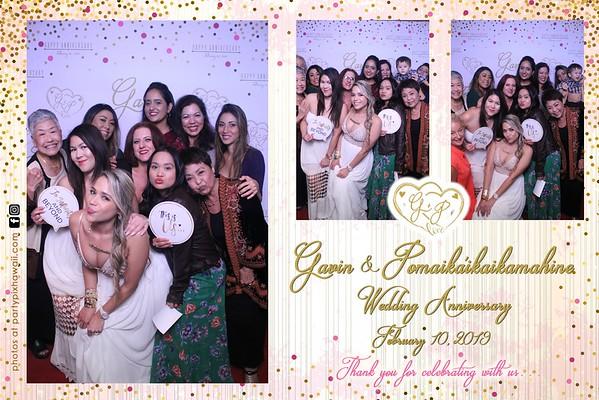 Gavin & Pomai's 6th Wedding Anniversary (Magic Mirror Photo Booth)