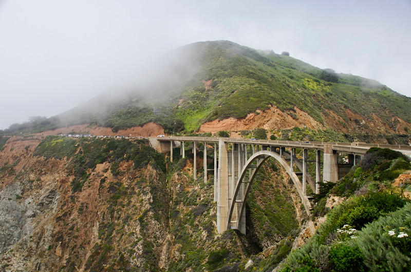 Bridge along the Pacific Coast