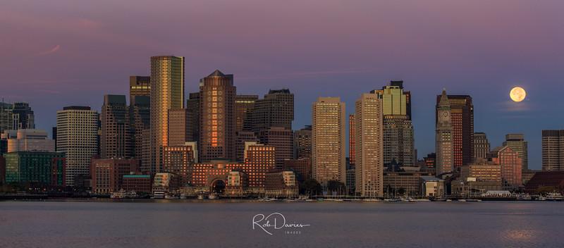 Boston Moonset