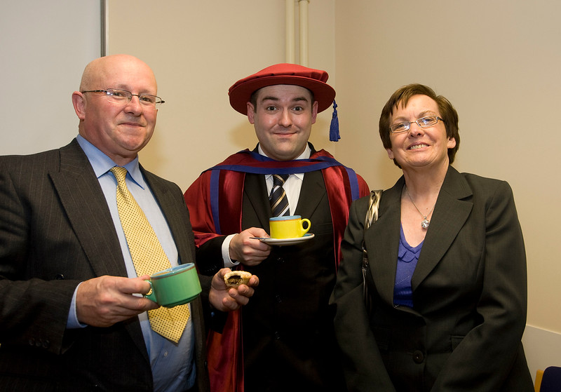 5/1/2012. News. Free to use image. Waterford Institute of Technology (WIT) Graduation. Pictured is Stephen Dowling from Tramore who was conferred a Doctor of Philosophy, also pictured is his parents Oliver and Anne. Photo Patrick Browne