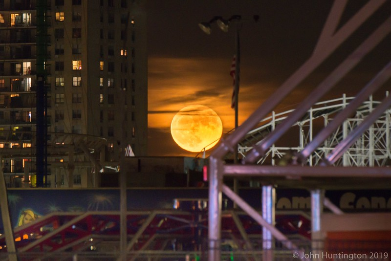 coney Island Supermoon, November 14, 2016