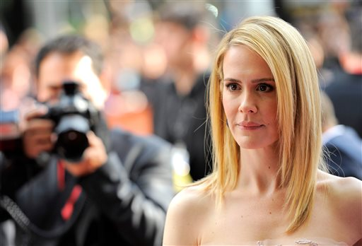 ". Sarah Paulson arrives at the premiere for ""12 Years a Slave\"" on day 2 of the Toronto International Film Festival at The Princess of Wales Theatre on Friday, Sept. 6, 2013, in Toronto. (Photo by Chris Pizzelloi/Invision/AP)"