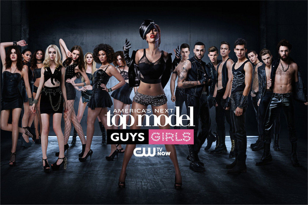 . Cycle ANTM20 contestants Jiana, Kanani, Renee, Nina, Jourdan, Alex, Chlea, Bianca, Judge Tyra Banks, Jeremy, Don, Chris H., Mike, Marvin, Cory, Chris S. and Phil on America\'s Next Top Model on The CW.  (Photo by Massimo Campana/Pottle Productions Inc)
