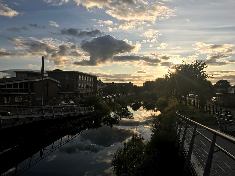 Sunset over Grand Canal Tullamore
